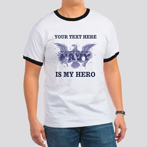 Personalizeable Navy Hero Ringer T